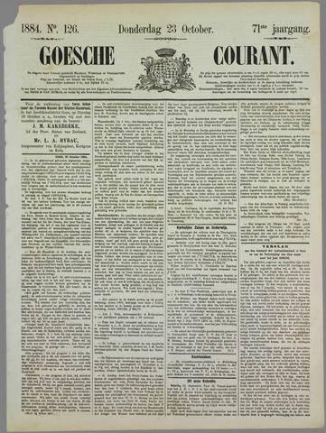 Goessche Courant 1884-10-23