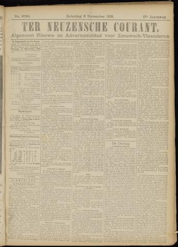 Ter Neuzensche Courant. Algemeen Nieuws- en Advertentieblad voor Zeeuwsch-Vlaanderen / Neuzensche Courant ... (idem) / (Algemeen) nieuws en advertentieblad voor Zeeuwsch-Vlaanderen 1918-11-09