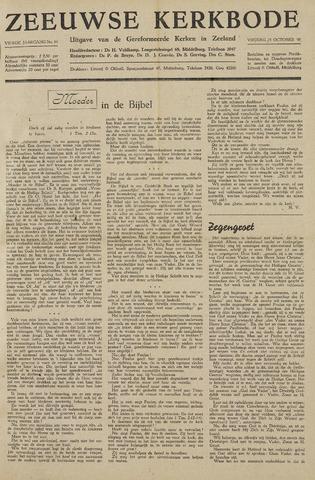 Zeeuwsche kerkbode, weekblad gewijd aan de belangen der gereformeerde kerken/ Zeeuwsch kerkblad 1948-10-15