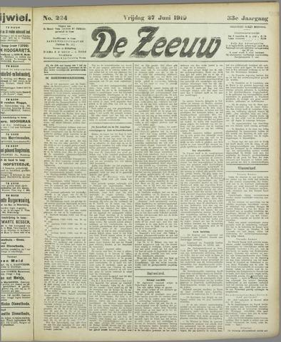 De Zeeuw. Christelijk-historisch nieuwsblad voor Zeeland 1919-06-27