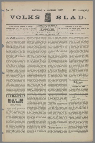 Volksblad 1922-01-07