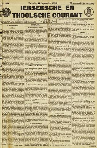 Ierseksche en Thoolsche Courant 1920-09-11