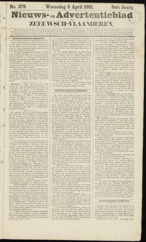 Ter Neuzensche Courant. Algemeen Nieuws- en Advertentieblad voor Zeeuwsch-Vlaanderen / Neuzensche Courant ... (idem) / (Algemeen) nieuws en advertentieblad voor Zeeuwsch-Vlaanderen 1861-04-03
