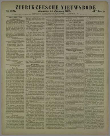 Zierikzeesche Nieuwsbode 1888-01-24