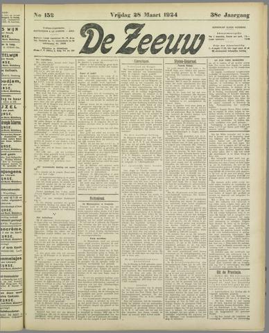 De Zeeuw. Christelijk-historisch nieuwsblad voor Zeeland 1924-03-28