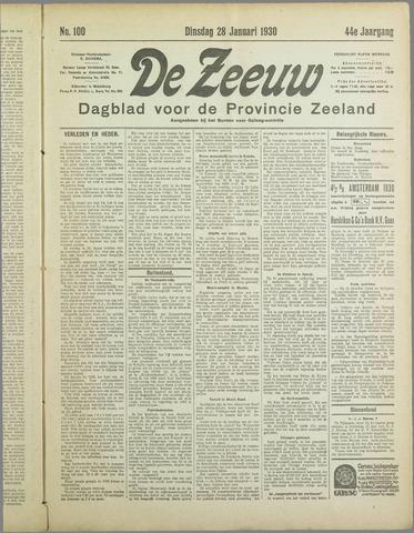 De Zeeuw. Christelijk-historisch nieuwsblad voor Zeeland 1930-01-28