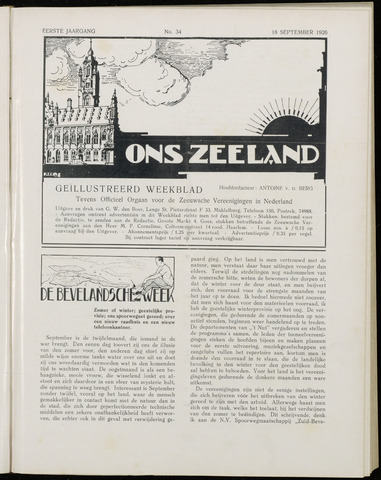 Ons Zeeland / Zeeuwsche editie 1926-09-18