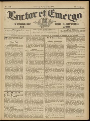 Luctor et Emergo. Antirevolutionair nieuws- en advertentieblad voor Zeeland / Zeeuwsch-Vlaanderen. Orgaan ter verspreiding van de christelijke beginselen in Zeeuwsch-Vlaanderen 1912-11-16