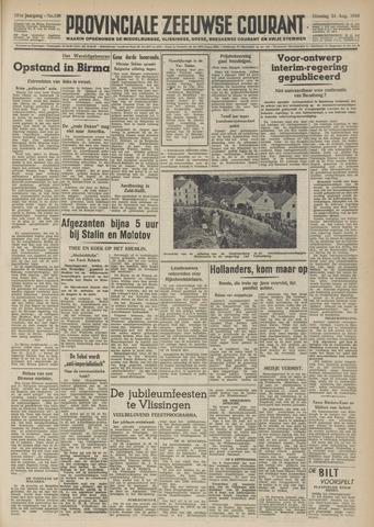 Provinciale Zeeuwse Courant 1948-08-24