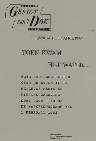 Watersnood documentatie 1953 - diversen 1988