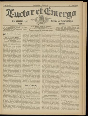 Luctor et Emergo. Antirevolutionair nieuws- en advertentieblad voor Zeeland / Zeeuwsch-Vlaanderen. Orgaan ter verspreiding van de christelijke beginselen in Zeeuwsch-Vlaanderen 1915-05-05