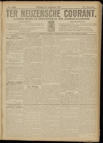 Ter Neuzensche Courant. Algemeen Nieuws- en Advertentieblad voor Zeeuwsch-Vlaanderen / Neuzensche Courant ... (idem) / (Algemeen) nieuws en advertentieblad voor Zeeuwsch-Vlaanderen 1916-08-15