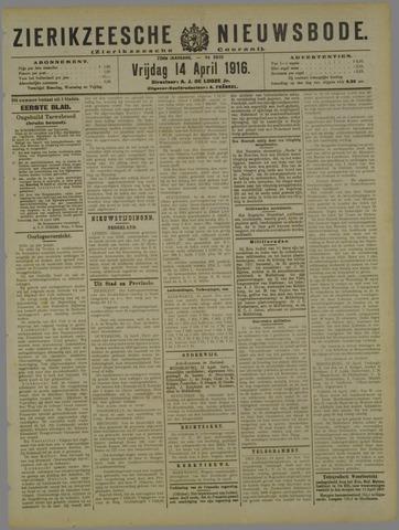 Zierikzeesche Nieuwsbode 1916-04-14
