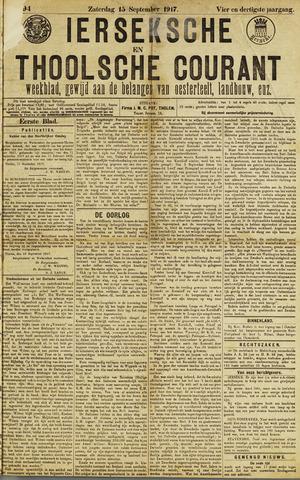 Ierseksche en Thoolsche Courant 1917-09-15