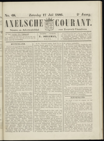 Axelsche Courant 1886-07-17