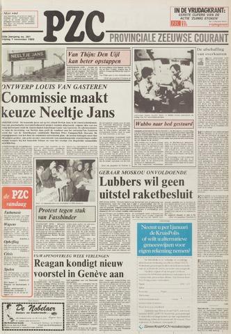 Provinciale Zeeuwse Courant 1985-11-01