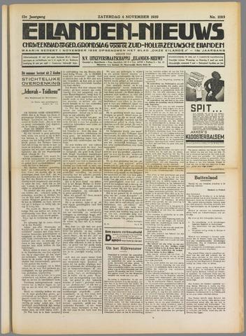 Eilanden-nieuws. Christelijk streekblad op gereformeerde grondslag 1939-11-04