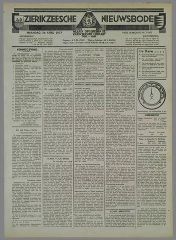 Zierikzeesche Nieuwsbode 1937-04-26
