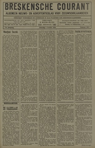 Breskensche Courant 1924-10-04
