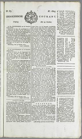 Zierikzeesche Courant 1824-10-29