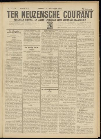 Ter Neuzensche Courant. Algemeen Nieuws- en Advertentieblad voor Zeeuwsch-Vlaanderen / Neuzensche Courant ... (idem) / (Algemeen) nieuws en advertentieblad voor Zeeuwsch-Vlaanderen 1935-10-07