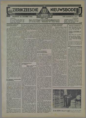 Zierikzeesche Nieuwsbode 1942-10-26