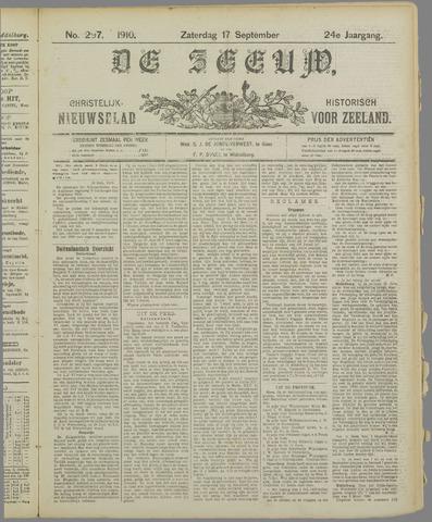 De Zeeuw. Christelijk-historisch nieuwsblad voor Zeeland 1910-09-17