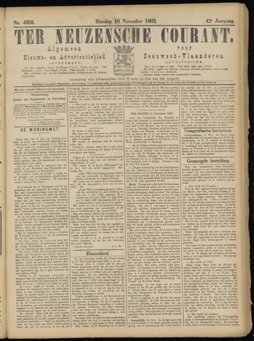 Ter Neuzensche Courant. Algemeen Nieuws- en Advertentieblad voor Zeeuwsch-Vlaanderen / Neuzensche Courant ... (idem) / (Algemeen) nieuws en advertentieblad voor Zeeuwsch-Vlaanderen 1902-11-18