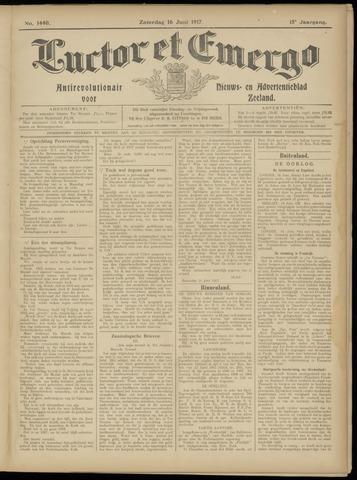 Luctor et Emergo. Antirevolutionair nieuws- en advertentieblad voor Zeeland / Zeeuwsch-Vlaanderen. Orgaan ter verspreiding van de christelijke beginselen in Zeeuwsch-Vlaanderen 1917-06-16