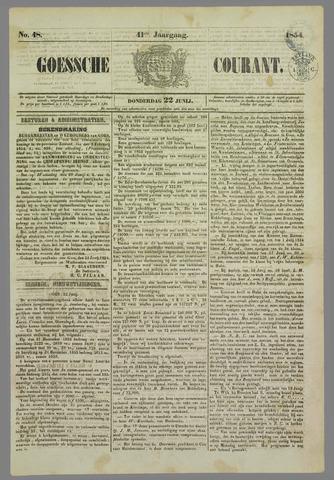 Goessche Courant 1854-06-22