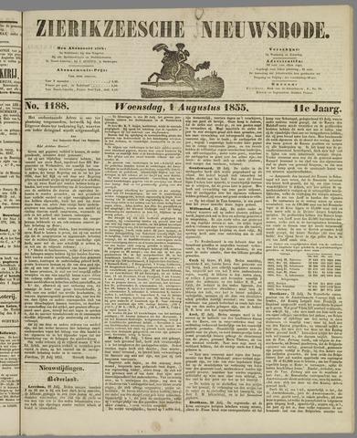 Zierikzeesche Nieuwsbode 1855-08-01
