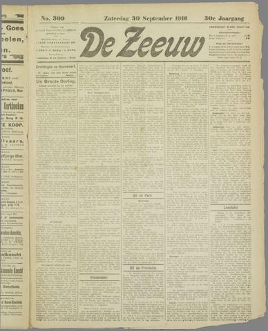 De Zeeuw. Christelijk-historisch nieuwsblad voor Zeeland 1916-09-30