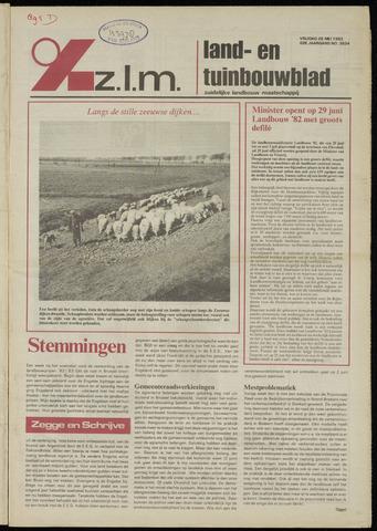 Zeeuwsch landbouwblad ... ZLM land- en tuinbouwblad 1982-05-28