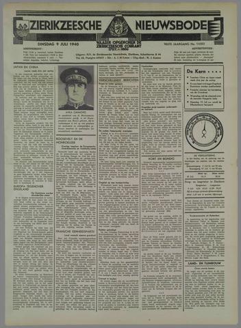 Zierikzeesche Nieuwsbode 1940-07-09