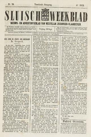 Sluisch Weekblad. Nieuws- en advertentieblad voor Westelijk Zeeuwsch-Vlaanderen 1873-09-19