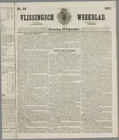 Vlissings Weekblad 1863-09-26