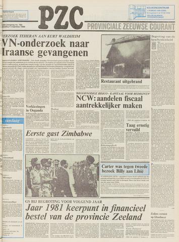Provinciale Zeeuwse Courant 1980-08-05