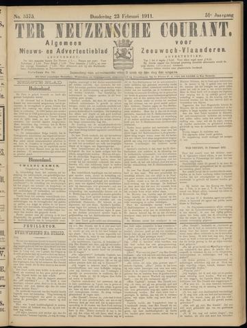 Ter Neuzensche Courant. Algemeen Nieuws- en Advertentieblad voor Zeeuwsch-Vlaanderen / Neuzensche Courant ... (idem) / (Algemeen) nieuws en advertentieblad voor Zeeuwsch-Vlaanderen 1911-02-23