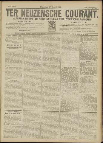Ter Neuzensche Courant. Algemeen Nieuws- en Advertentieblad voor Zeeuwsch-Vlaanderen / Neuzensche Courant ... (idem) / (Algemeen) nieuws en advertentieblad voor Zeeuwsch-Vlaanderen 1915-04-27