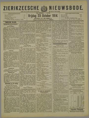 Zierikzeesche Nieuwsbode 1914-10-23