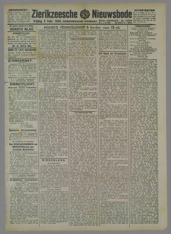 Zierikzeesche Nieuwsbode 1934-02-02