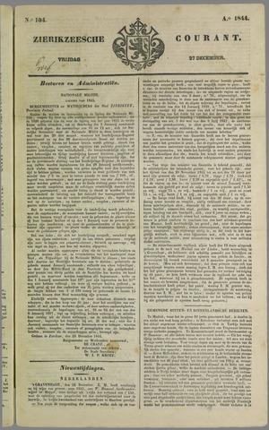 Zierikzeesche Courant 1844-12-27