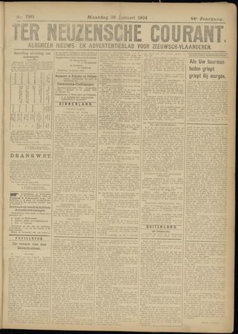 Ter Neuzensche Courant. Algemeen Nieuws- en Advertentieblad voor Zeeuwsch-Vlaanderen / Neuzensche Courant ... (idem) / (Algemeen) nieuws en advertentieblad voor Zeeuwsch-Vlaanderen 1924-01-28