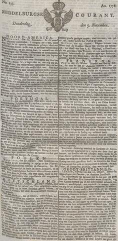 Middelburgsche Courant 1778-11-05