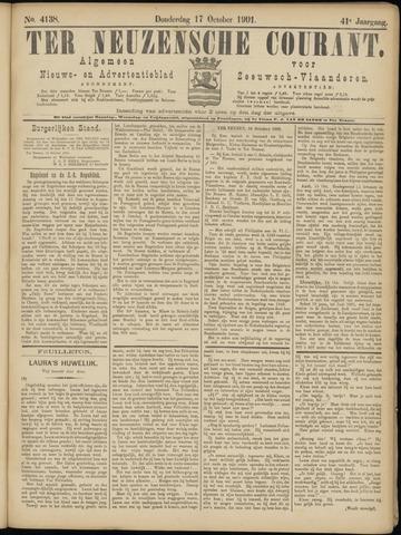 Ter Neuzensche Courant. Algemeen Nieuws- en Advertentieblad voor Zeeuwsch-Vlaanderen / Neuzensche Courant ... (idem) / (Algemeen) nieuws en advertentieblad voor Zeeuwsch-Vlaanderen 1901-10-17