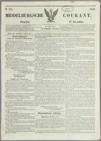 Middelburgsche Courant 1859-12-27