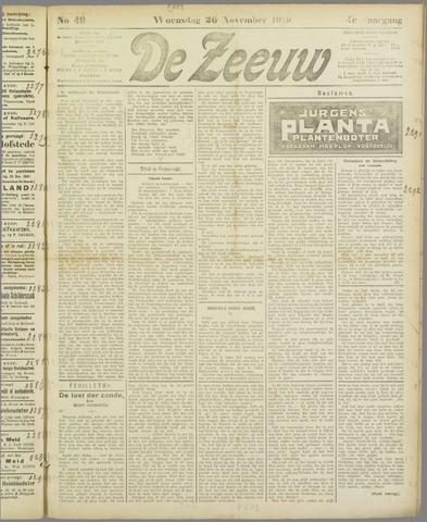 De Zeeuw. Christelijk-historisch nieuwsblad voor Zeeland 1919-11-26