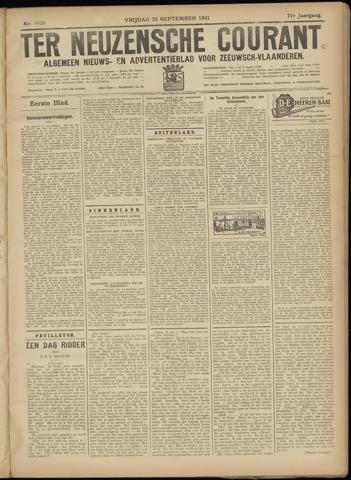 Ter Neuzensche Courant. Algemeen Nieuws- en Advertentieblad voor Zeeuwsch-Vlaanderen / Neuzensche Courant ... (idem) / (Algemeen) nieuws en advertentieblad voor Zeeuwsch-Vlaanderen 1931-09-25