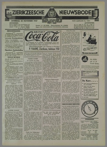 Zierikzeesche Nieuwsbode 1937-11-20