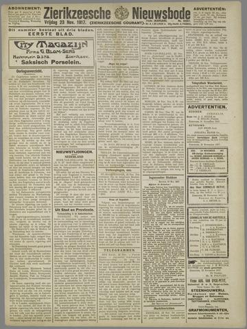 Zierikzeesche Nieuwsbode 1917-11-23